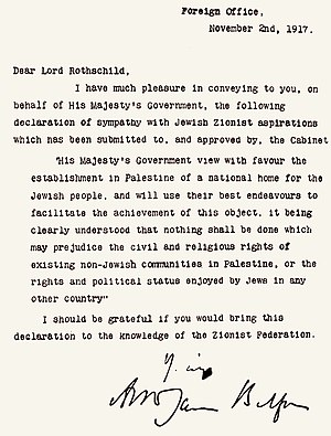 """The Balfour Declaration – """"The Pandora's Box"""" of the Middle East (Part 1 of the Israel-Palestine conflict)"""